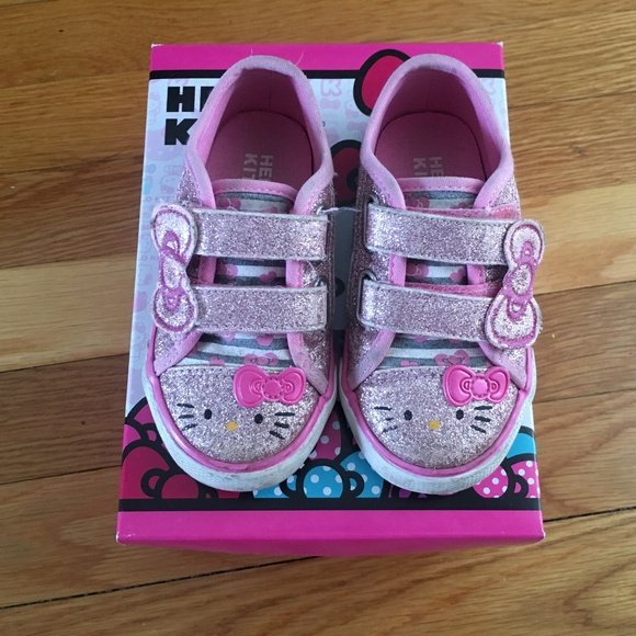 282d4f985 Hello Kitty Other - Hello Kitty Pink Toddler Girl Sparkly Pink Shoes 7